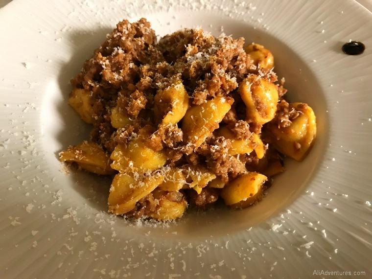 Bologna Italy travel expenses gluten free pasta