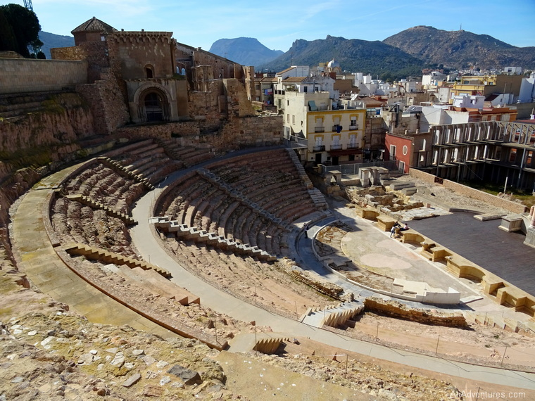 how much we spent in Cartagena, Spain - Roman amphitheater