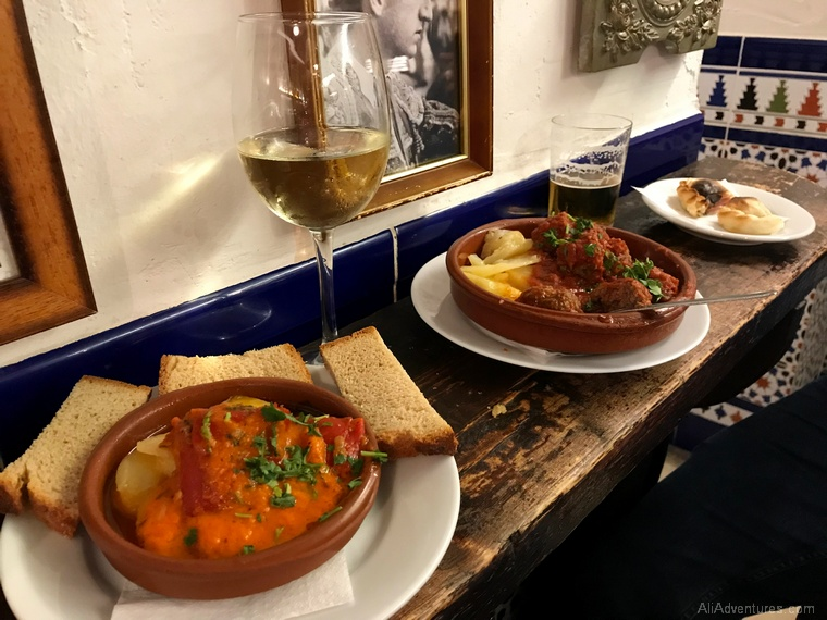 Malaga travel expenses - Malaga tapas