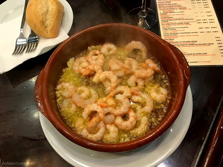 Spain experiment Sevilla garlic shrimp