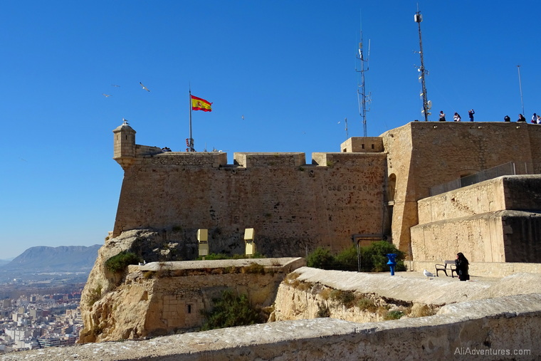 how much money do you need to travel in Alicante Spain - Santa Barbara Castle