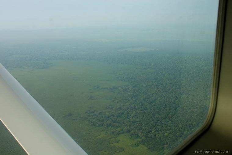 Uganda safari Queen Elizabeth park north view from plane