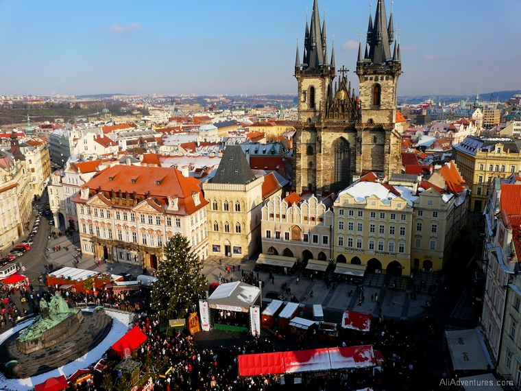 Christmas market in Prague Czech Republic