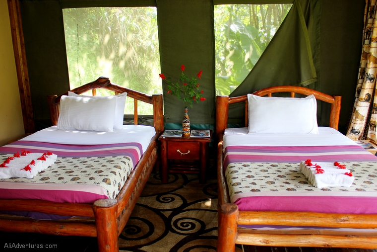 where to stay in Bwindi Impenetrable Forest Uganda