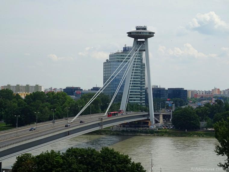 Bratislava budget UFO bridge