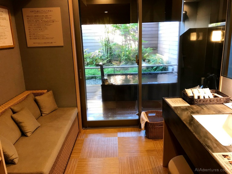 Japan trip cost Hakone hotel private onsen