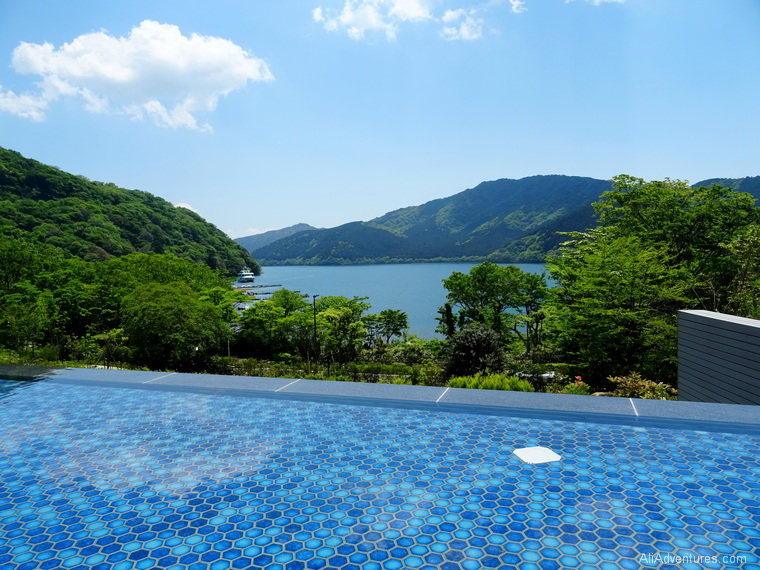 Japan trip cost Hakone hotel view