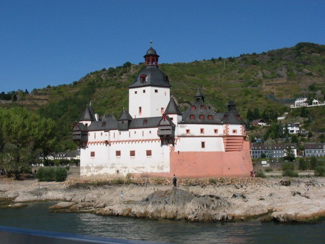 Pfalzgrafenstein castle on the Rhine River