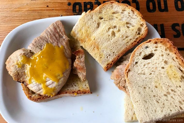 Lisbon travel budget food tour pork sandwich